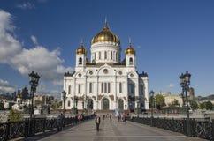 Le Christ la cathédrale de sauveur moscou Photos stock