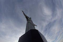 Le Christ la nuit de monument de rédempteur dans le Rio de Janeiro Brésil Image libre de droits