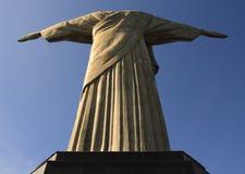 Le Christ la vue de dos de rédempteur Image libre de droits