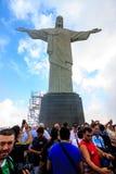 Le Christ le rédempteur dans Rio de Janeiro Image libre de droits