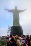 Le Christ le rédempteur dans Rio de Janeiro Images libres de droits