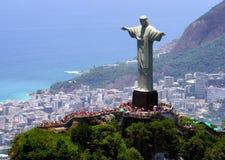 Le Christ le rédempteur dans Rio de Janeiro Photos libres de droits