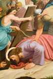 Le Christ sous la croix Image libre de droits