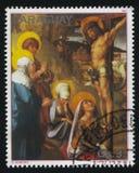 Le Christ sur la croix par Albrecht Durer Images stock