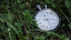 Le chronomètre se trouve sur l'herbe verte, concept folâtre clips vidéos