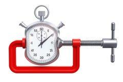Le chronomètre a serré dans un concept de bride, le rendu 3D Photos stock