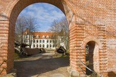 Le château Birzai de Moyen Âge Image stock