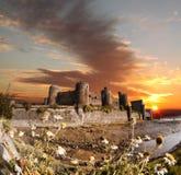 Le château de Conwy au Pays de Galles, Royaume-Uni, série de Walesh se retranche Photos stock