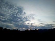 Le ciel était une forme étrange Image libre de droits