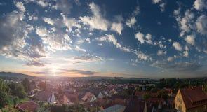 Le ciel au-dessus de Breisach AM rhein Photos libres de droits