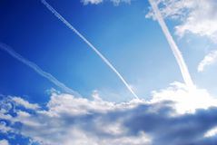 Le ciel bleu Photos stock