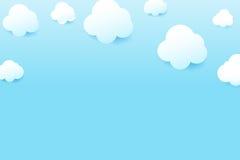 Le ciel bleu et le nuage avec la baisse ombragent la GE de fond naturel simplement Image libre de droits