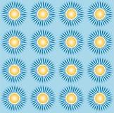 Le ciel bleu et le soleil et l'éclat modèlent le vecteur illustration de vecteur