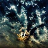 Le ciel brûlant Photographie stock libre de droits