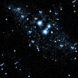 Le ciel d'obscurité de nuit Image stock