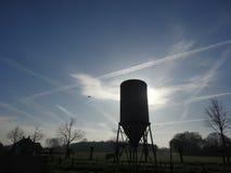 Le ciel d'une ferme Photos libres de droits