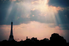 Le ciel de Paris Royalty Free Stock Image