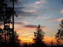 Le ciel de soirée Photos stock