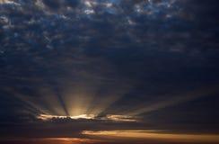 Le ciel de soirée Images stock