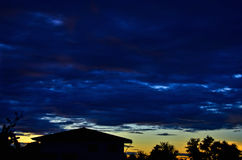 Le ciel de soirée Photos libres de droits