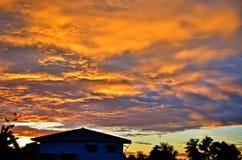Le ciel de soirée Photographie stock