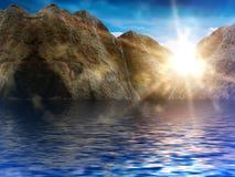 Le ciel de Sun opacifie le lever de soleil Images stock