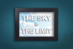 Le ciel est la limite à l'arrière-plan de ciel photos stock