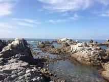 Le ciel et l'océan se joignent Photos libres de droits