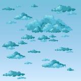Le ciel et les nuages de tempête Photo libre de droits