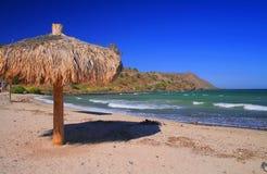 Le ciel, le soleil, plage et voient Photo libre de droits