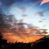 Le ciel n'est pas l'it& x27 de limite ; s la vue Image stock