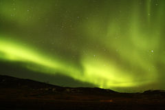 Le ciel nocturne de l'Islande Photos stock