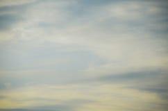 Le ciel pendant le matin Images stock
