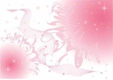 Le ciel rose fumeux en étoiles illustration stock