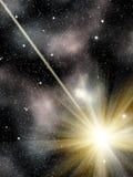 Le ciel stars le météore de constellation Photographie stock