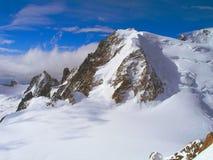 Le cime della catena montuosa di Mont Blanc Fotografia Stock