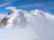 Le cime della catena montuosa di Mont Blanc Immagini Stock Libere da Diritti