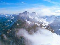 Le cime della catena montuosa di Mont Blanc Immagine Stock Libera da Diritti