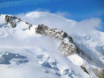 Le cime della catena montuosa di Mont Blanc Fotografia Stock Libera da Diritti