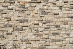 Le ciment concret de mur en pierre de texture de tuile de maçonnerie de brickwall beige de brique monopolisent la parole Images libres de droits