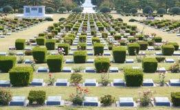 Le cimetière commémoratif des Nations Unies en Corée images libres de droits