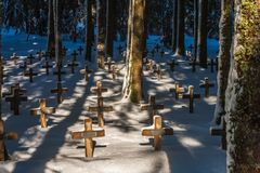 Le cimetière de Duchesne image stock