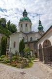 Le cimetière de St Peter, Salzbourg, Autriche Photos libres de droits