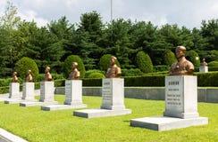 Le cimetière des révolutionnaires, Pyong Yang, Corée du Nord photo stock