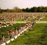 Le cimetière des vétérans Photos libres de droits