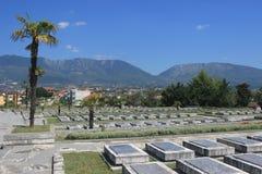 Le cimetière du martyre à Tirana, Albanie photographie stock libre de droits