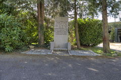 Le cimetière juif dans Vreelandseweg Images libres de droits