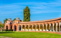 Le cimetière monumental de Certosa - Ferrare image stock