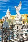 Le cimetière monumental de deux points à La Havane photo stock
