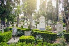 Le cimetière non catholique de Cimitero Acattolico de Rome Photos libres de droits